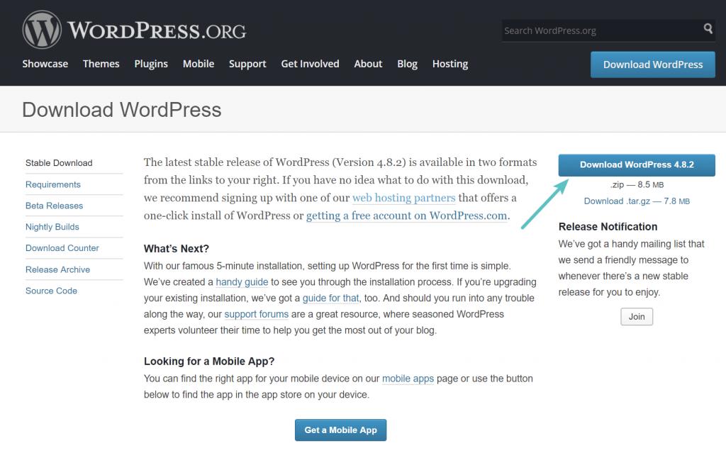 En son WordPress sürümünü indirin