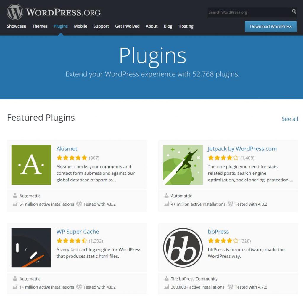 WordPress eklenti havuzu