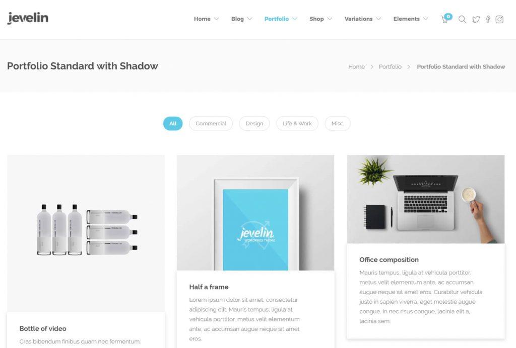 WordPress portföy sitesi