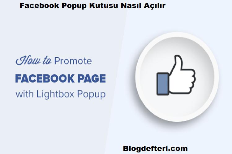 WordPress'de Facebook Lightbox Popup Nasıl Açılır