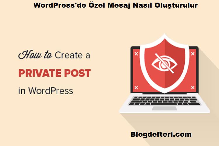 WordPress'de Özel Mesaj Nasıl Oluşturulur