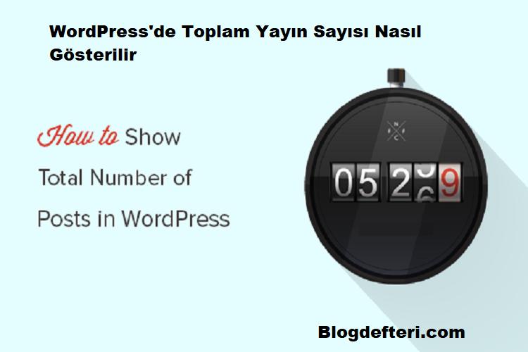 WordPress'de Toplam Yayın Sayısı Nasıl Gösterilir
