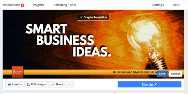 Snappa ile, işletmenizin Facebook sayfası için kolayca bir kapak oluşturabilirsiniz.