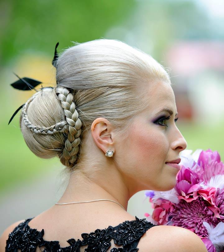 Prenses örgü ve topuz saç modelleri
