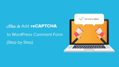 WordPress Yorum Formuna reCAPTCHA Nasıl Eklenir